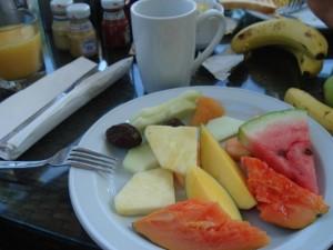 Frühstück im Hilton von San Juan: die Vorspeise