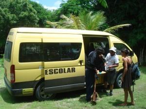 Ferien in Ecuador = arbeitsuchender Fahrer inklusive Bus